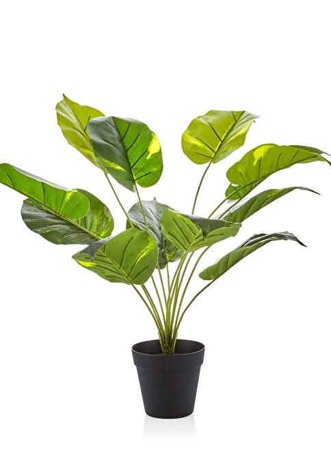 The Mia Yapay Çiçek 55 Cm Saksılı Yeşil